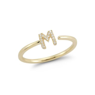 Personalisierter Initial Ring in Silber